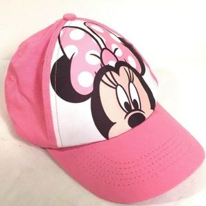 Disney Girls Minnie Mouse Hat Snap Back One Size